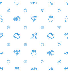 marriage icons pattern seamless white background vector image