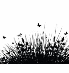 meadow silhouette vector image