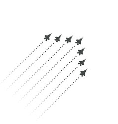 military aviation fighters fly up wedge shape of vector image