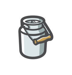 milk can barrel icon cartoon vector image