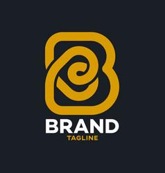 modern bakery and letter b logo vector image
