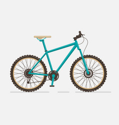 Mountain bike on white background vector