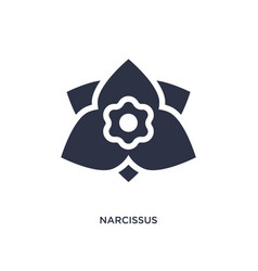 Narcissus icon on white background simple element vector