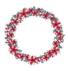 New year wreath merry christmas color vector