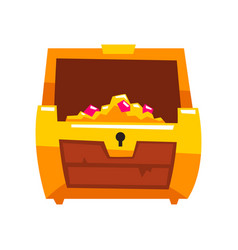 Opened antique treasure chest vector