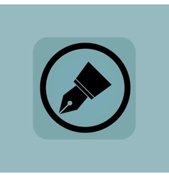 Pale blue pen nib sign vector