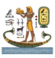 Pharaoh egyptian ancient symbol vector