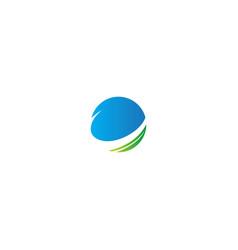 Planet orbit ecology sphere logo vector