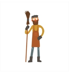 Profession Street Cleaner vector image