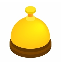 Reception bell isometric 3d icon vector image