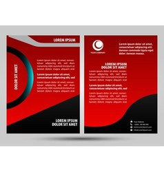 Red brochure vector