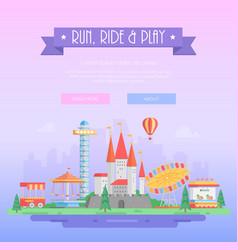 Run ride and play - modern vector