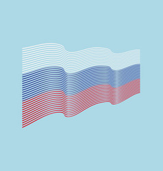 Russia flag on blue background wave stripe vector