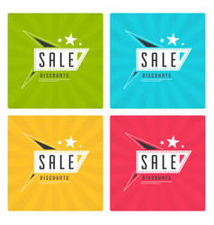 sale banners or labels design set vector image