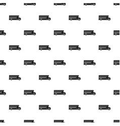 School bus pattern vector