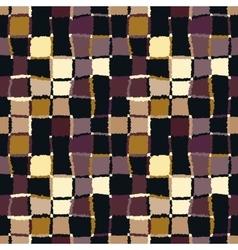 Seamless geometric mosaic checked pattern vector