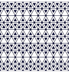 seamless geometric pattern with bold triangles vector image