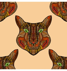 Seamless Tiger pattern vector image
