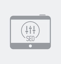 Seo settings on tablet vector