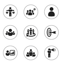 Set of 9 editable community icons includes vector