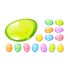 set of colorful candy drops on white vector image