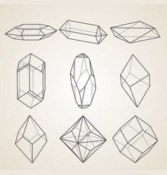 Set of geometric crystals vector