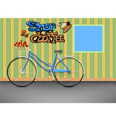 Shop and coffee vector image