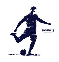 Soccer and football player man logo silhouette vector