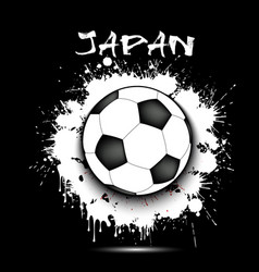 soccer ball and japan flag vector image