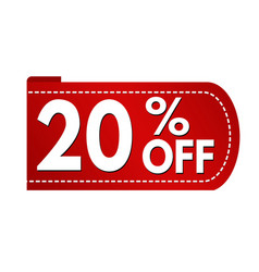special offer 20 off banner design vector image
