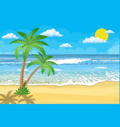 summer beach with a sun vector image