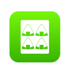 sushi icon digital green vector image