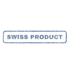 swiss product textile stamp vector image