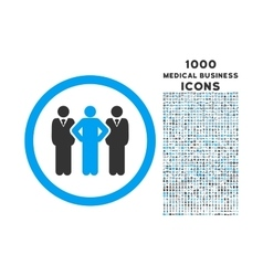 Team Rounded Icon with 1000 Bonus Icons vector image