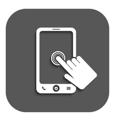 The click on the screen mobile phone vector image