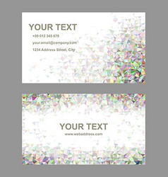 Triangle mosaic business card template set vector