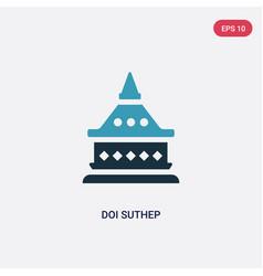 Two color doi suthep icon from religion concept vector