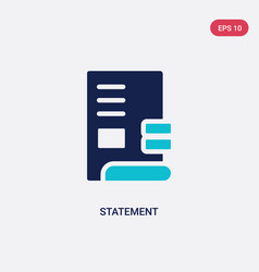 two color statement icon from ethics concept vector image