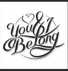 you amp i be long 5 vector image