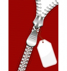 zipper with tag vector image