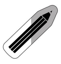 dark silhouette color pencil icon stock vector image vector image