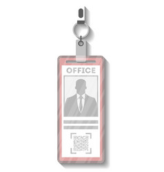id card in cardholder template vector image