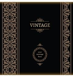Vintage gold backgroud vector image
