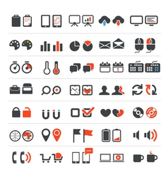 Web and business icons collection vector image vector image