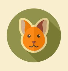 cat flat icon animal head vector image vector image