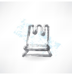 chess grunge icon vector image
