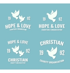 Dove logo or icon hope and love poster vector