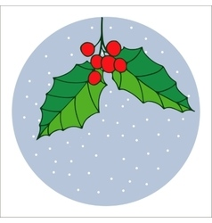 Traditional hand drawn christmas berry decoration vector image vector image