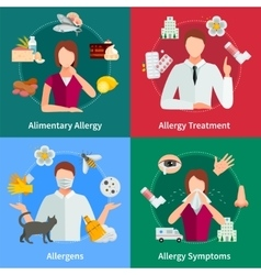 Allergy Concept Icons Set vector image vector image