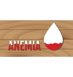 anemia concept with low blood vector image vector image